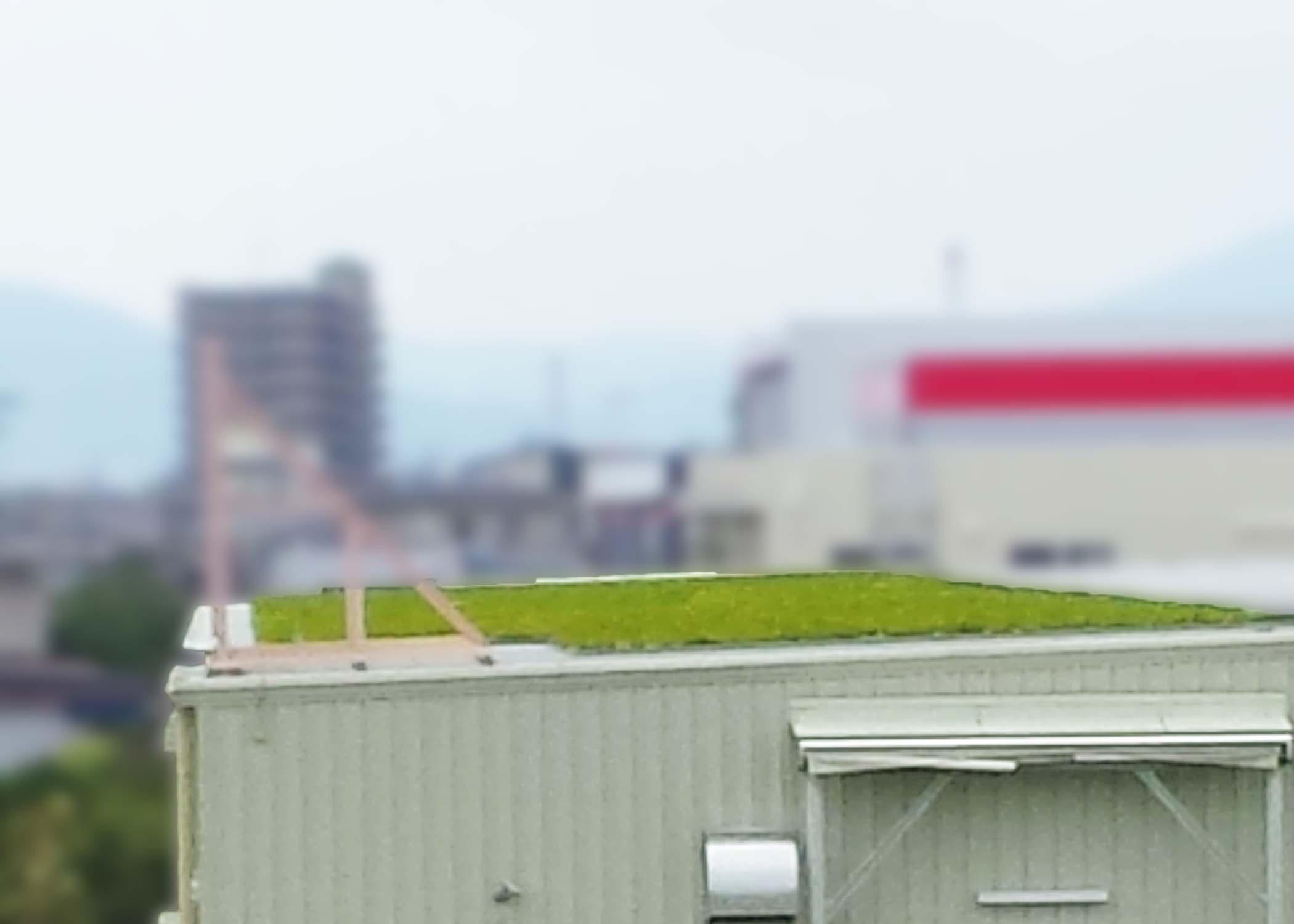 屋上緑化を設置する事によって雨音等などの環境音を吸収し防音にも効果があります。